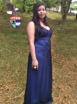 Candidata a Reina de las Flores 2do B.T.P. Informatica Helen Lacayo
