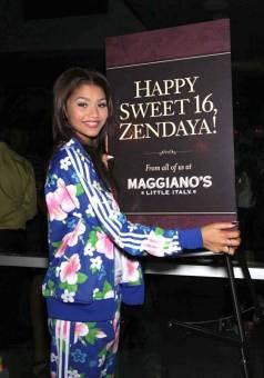 asi la paso la estrella el dia de su cumpleaño. feliz dulces 16 zendaya