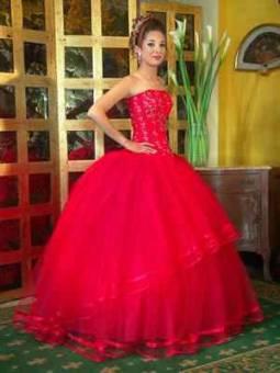 vestido rojo deslumbrante