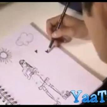 tomi dibujo a vilu en su diario