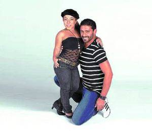 Hernan Piquin y Noelia Pompa
